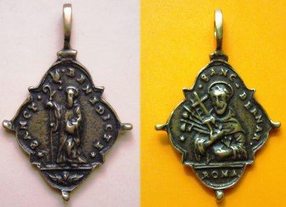 Medalik św.Benedykta iśw.Bernarda